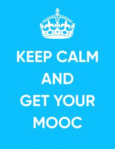 """keep calm and get your mooc"" illustrated text"